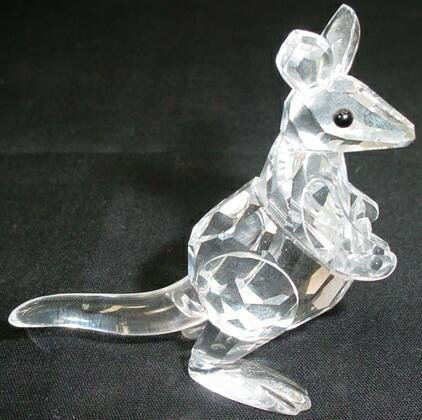 508: Swarovski Crystal Mother Kangaroo with Joey Figure