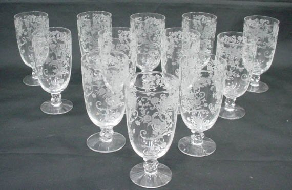 514: Set of Twelve (12) Fostoria Crystal Stemware Juice