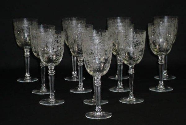 516: Set of Twelve (12) Fostoria Crystal Stemware Water