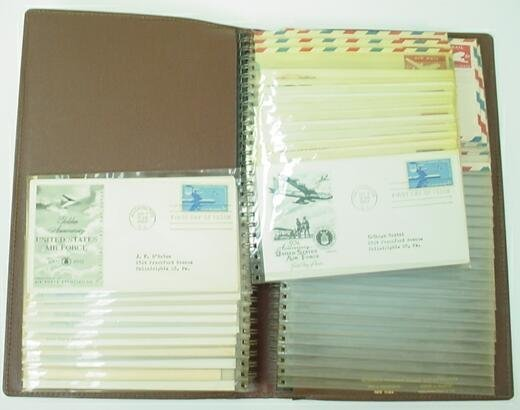 524: Book with 59 First Day Covers Mounted in Plastic S