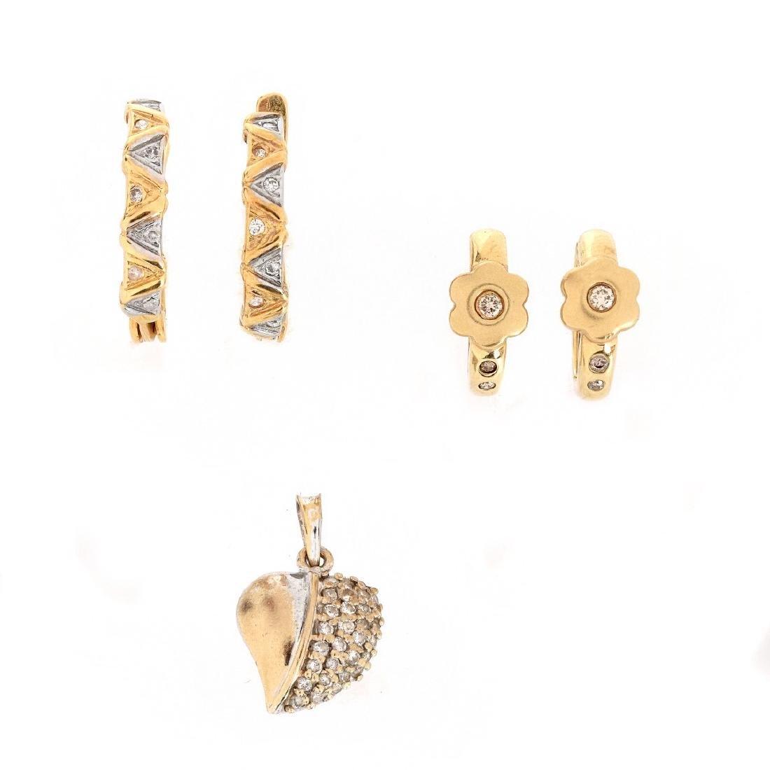 Delicate Diamond and 14K Jewelry Lot