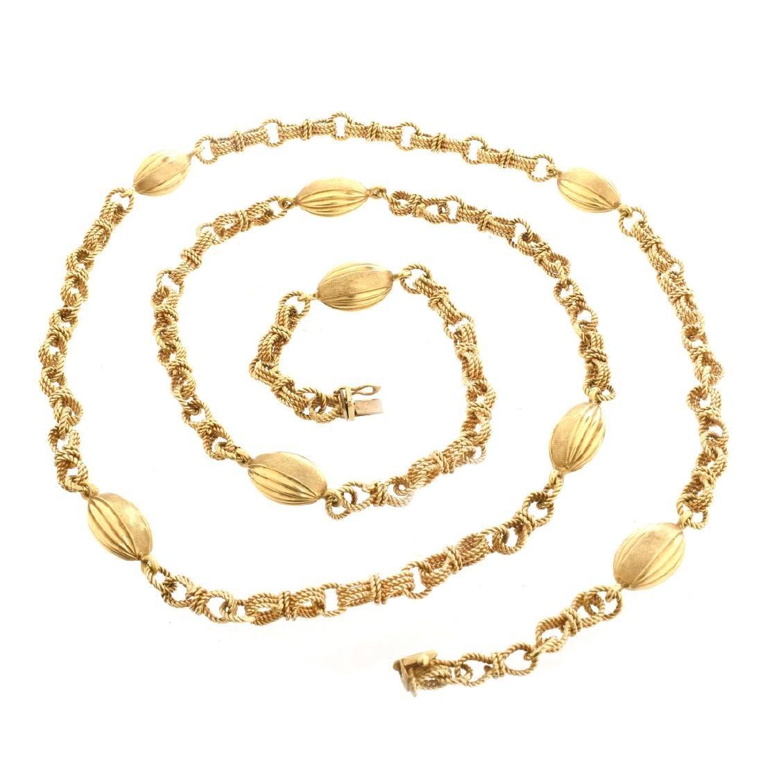 Vintage 18K Chain Necklace
