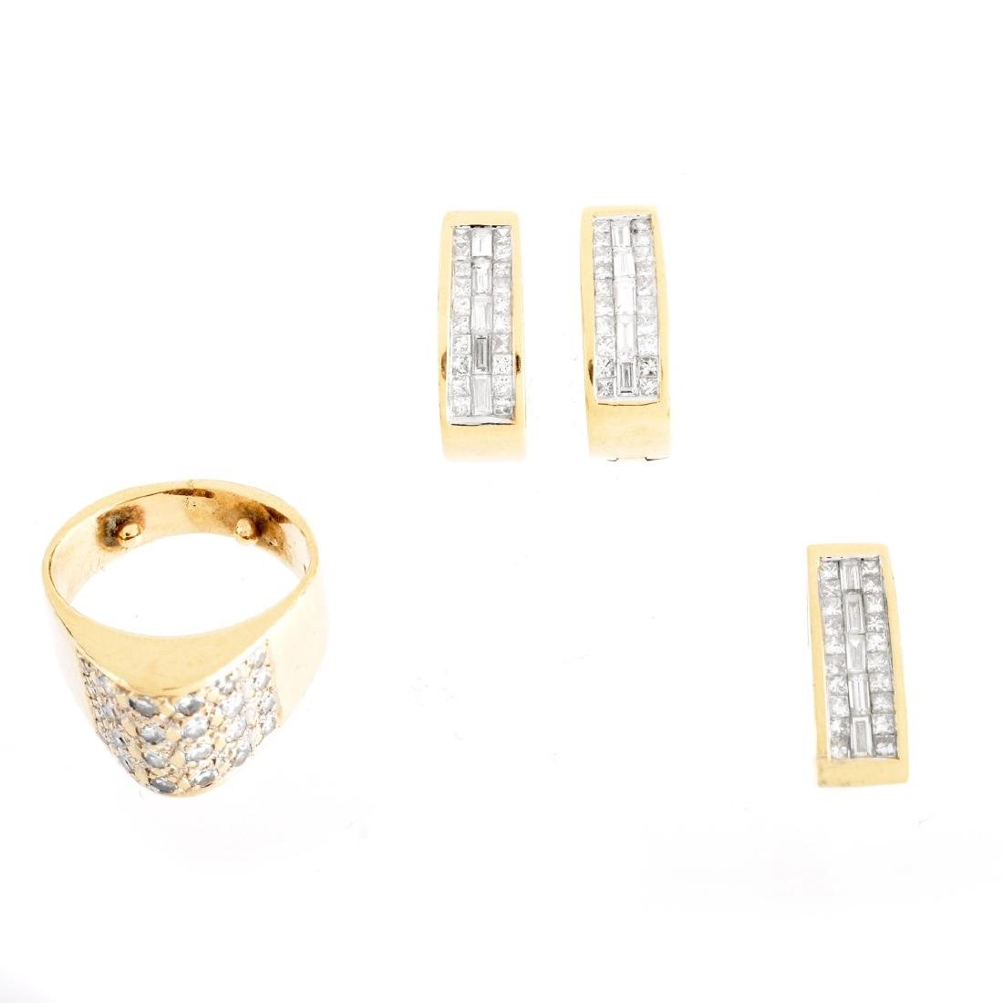 14K Gold And Diamond Suite