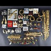 Large Collection of Retro Costume Jewelry