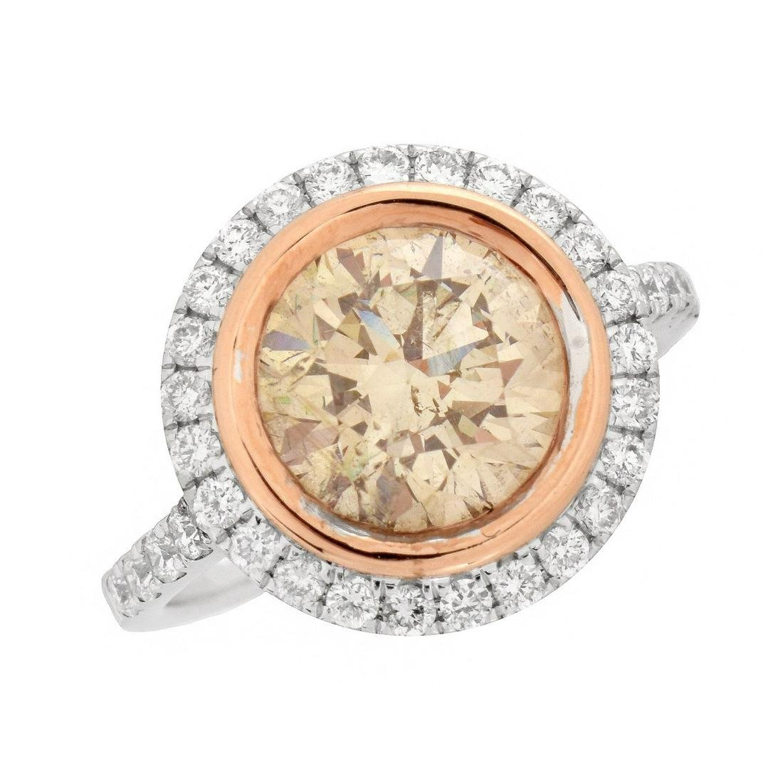 3.02ct Fancy Pinkish Brown Diamond Ring