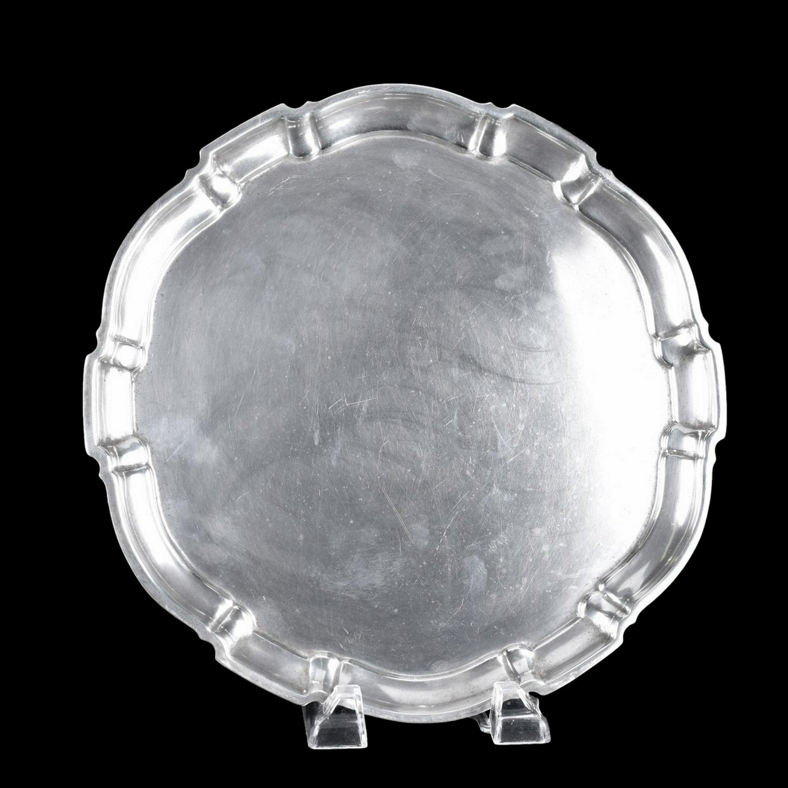 """Poole """"Chippendale"""" Sterling Silver Tray"""
