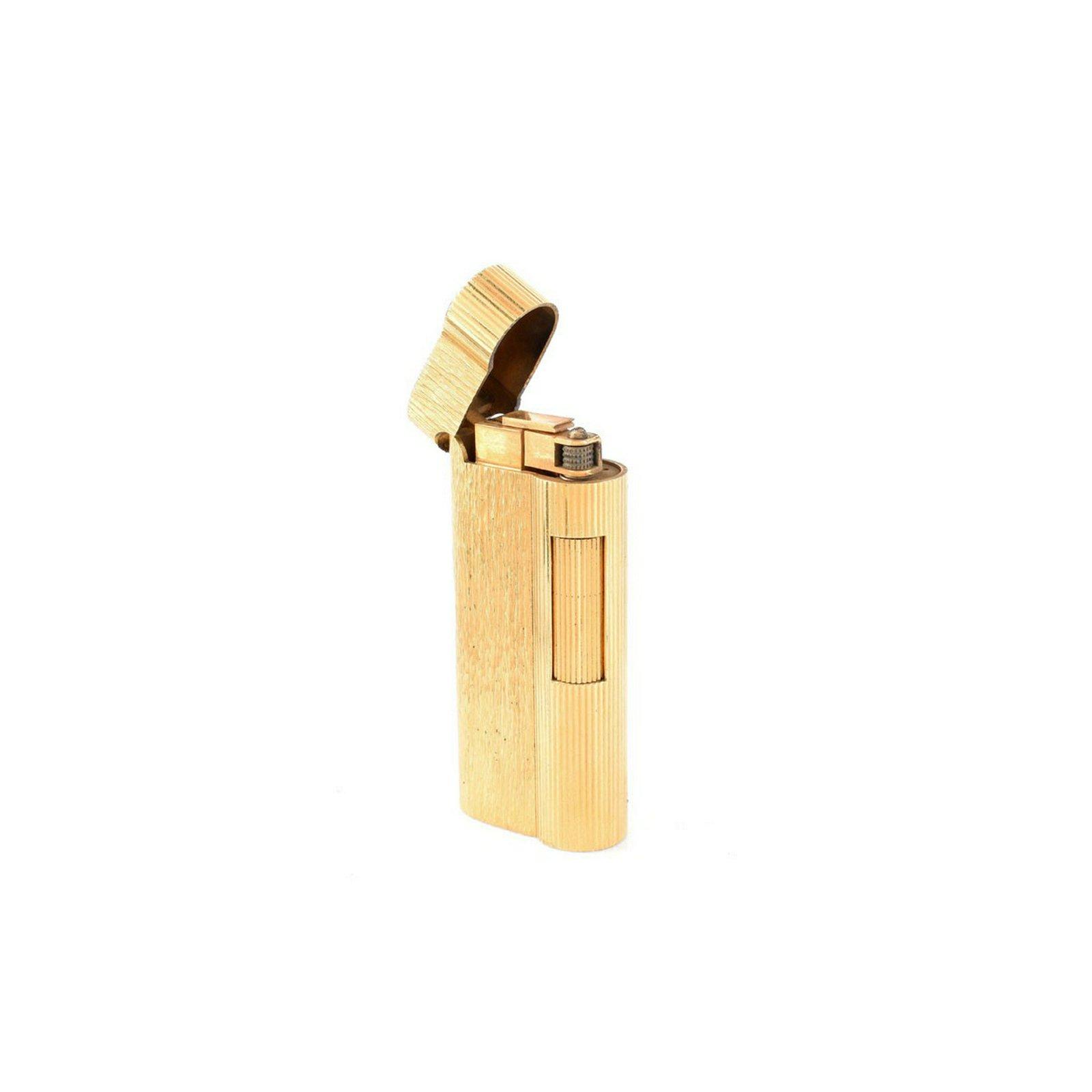 Vintage Dunhill Gold Plated Butane Lighter. Signed