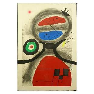 Joan Miro (1893-1983) Etching with Aquatint