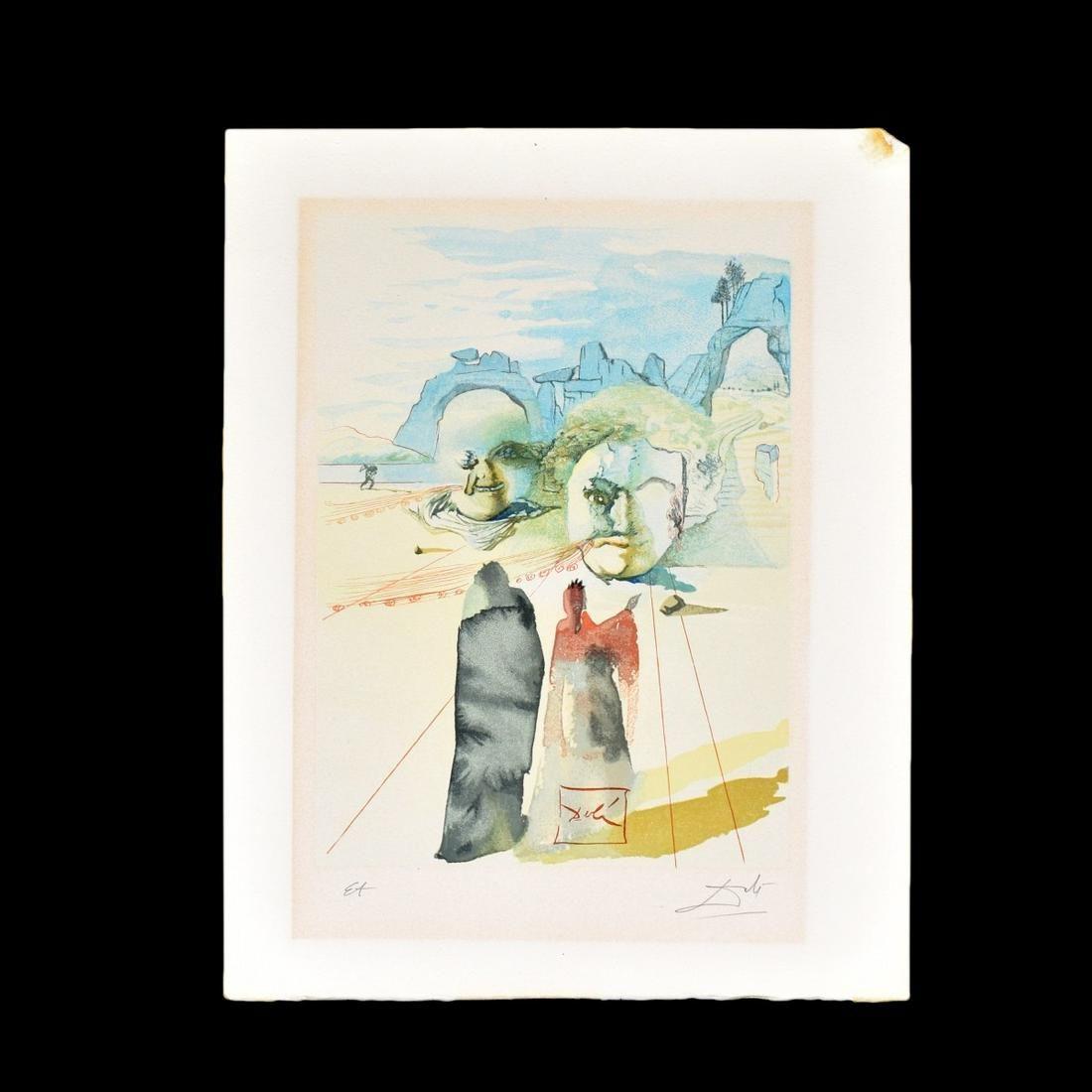 Salvador Dali (1904 - 1989) Color Engraving