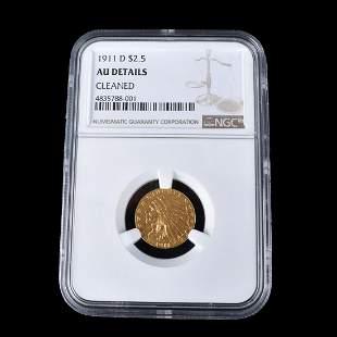 1911 U.S. Indian Head 2-1/2 Dollar