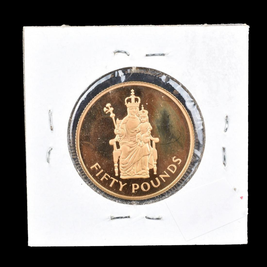 1975 Great Britain - Elizabeth II Gold 50 Pounds