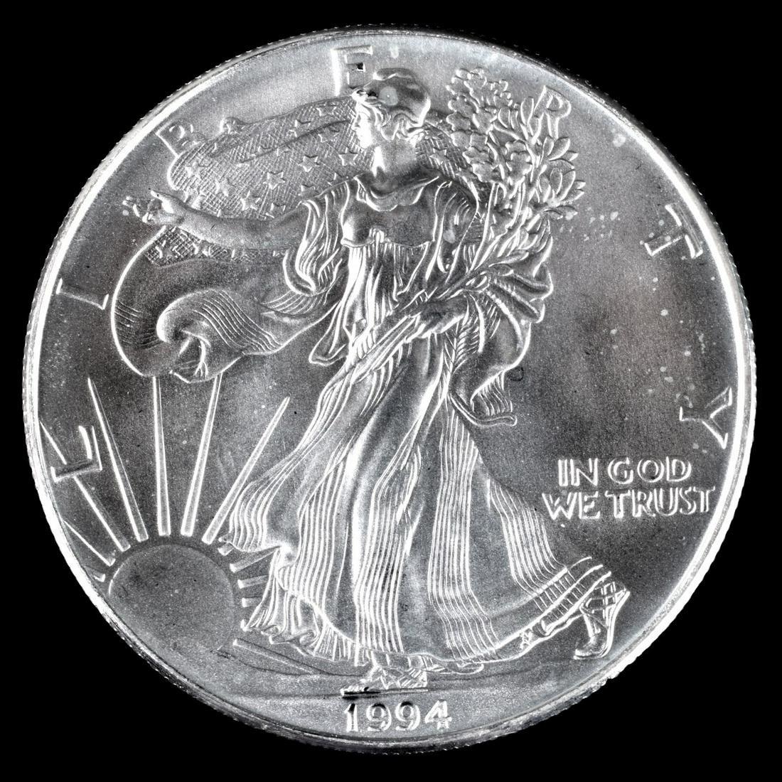 Twenty 1994 American Silver Eagle Coins