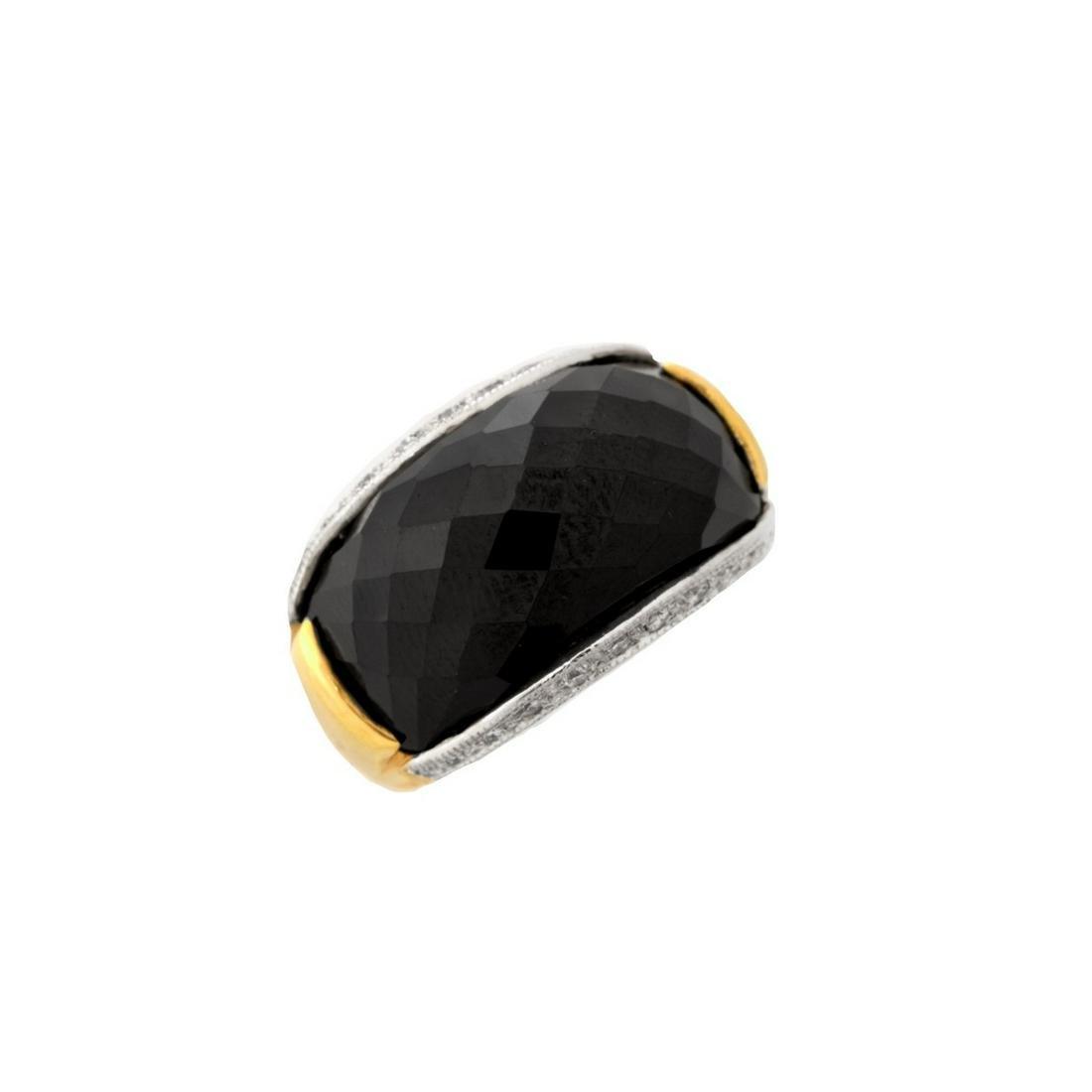 Onyx, Diamond and 14K Ring