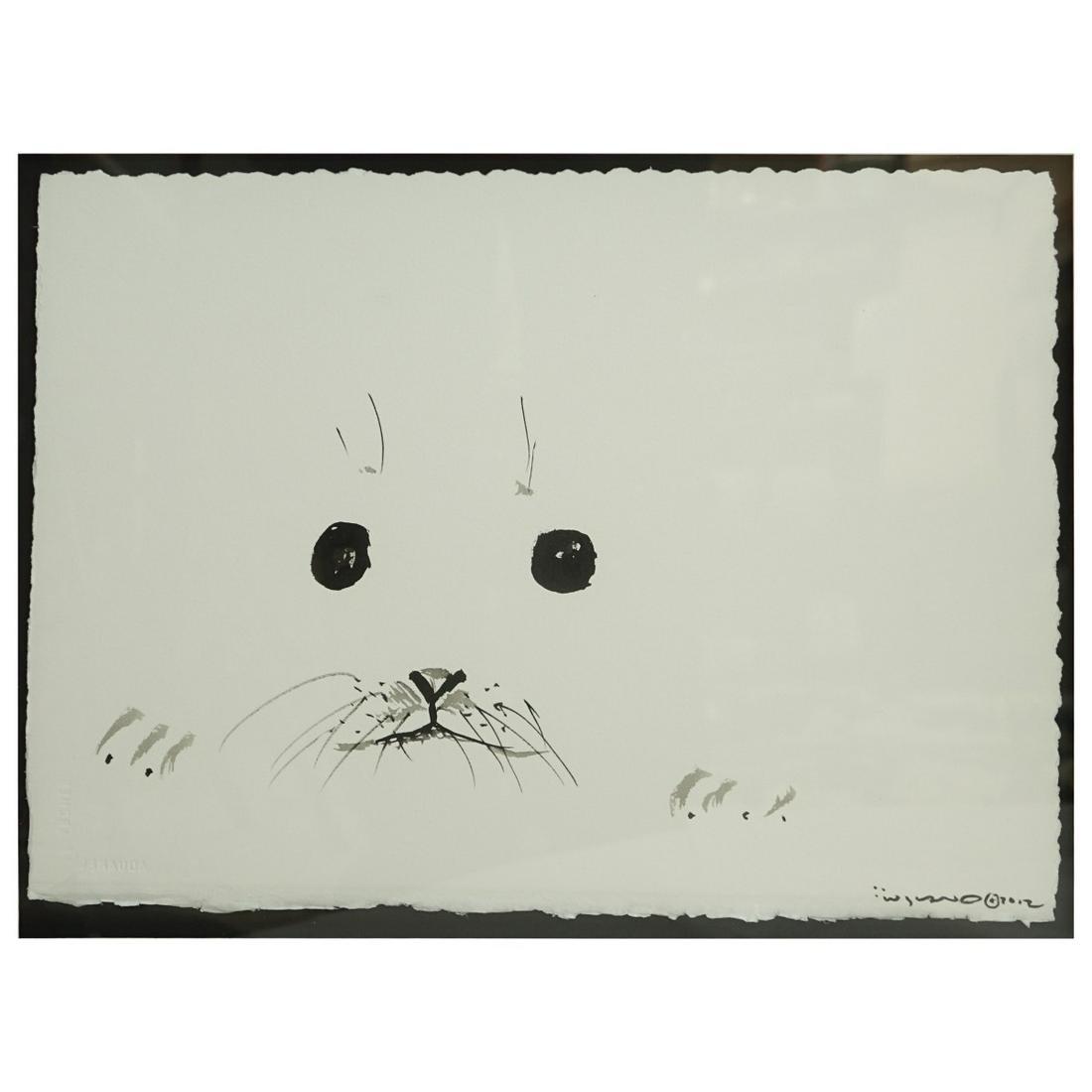 Robert Wyland (1956 - ) Sumi Ink Seal Face