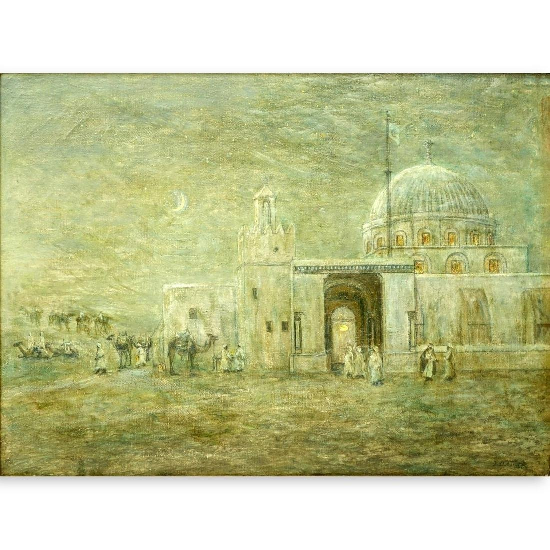 19C British School O/C Moroccan Evening signed JD
