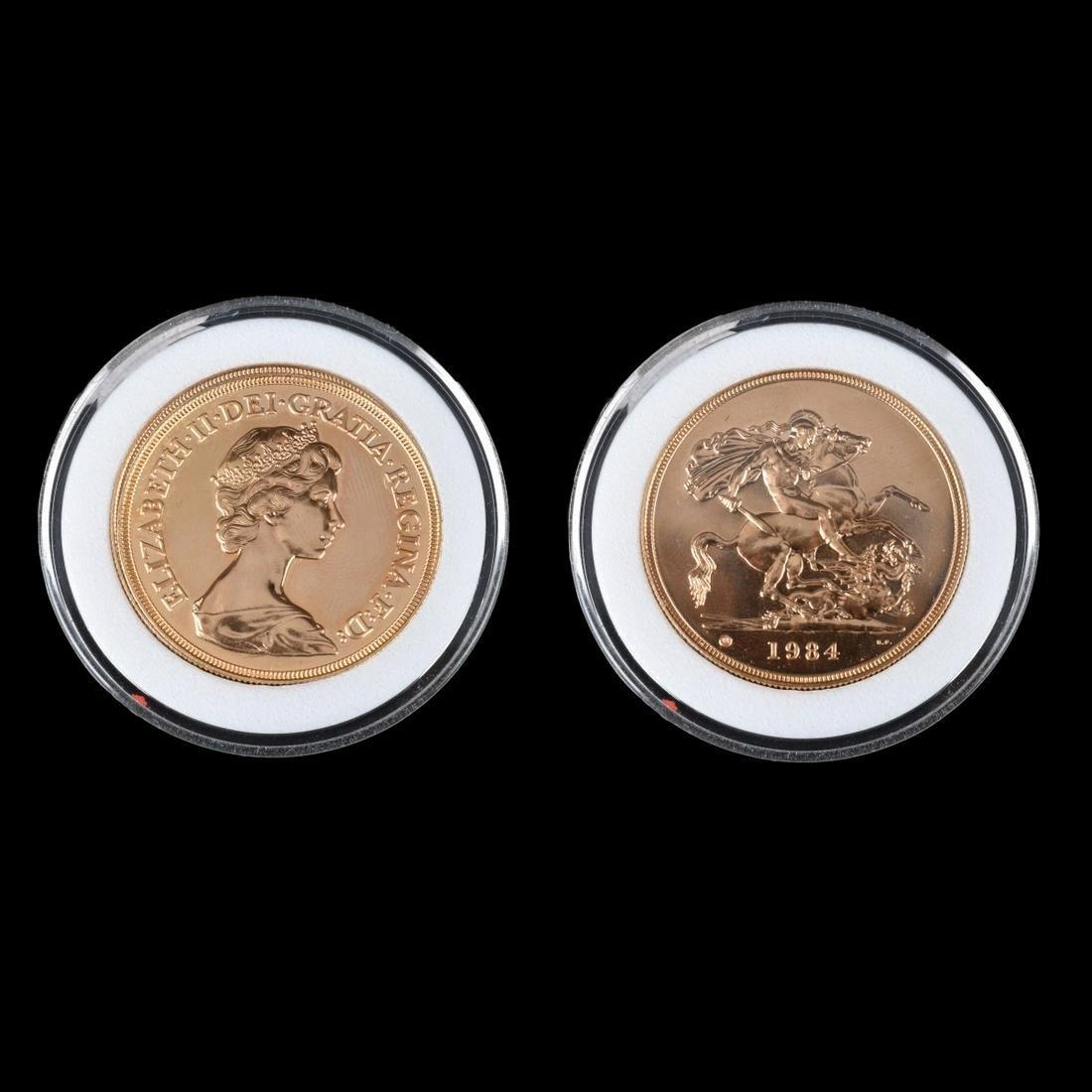 1984 Great Britain Elizabeth II Gold 5 pounds