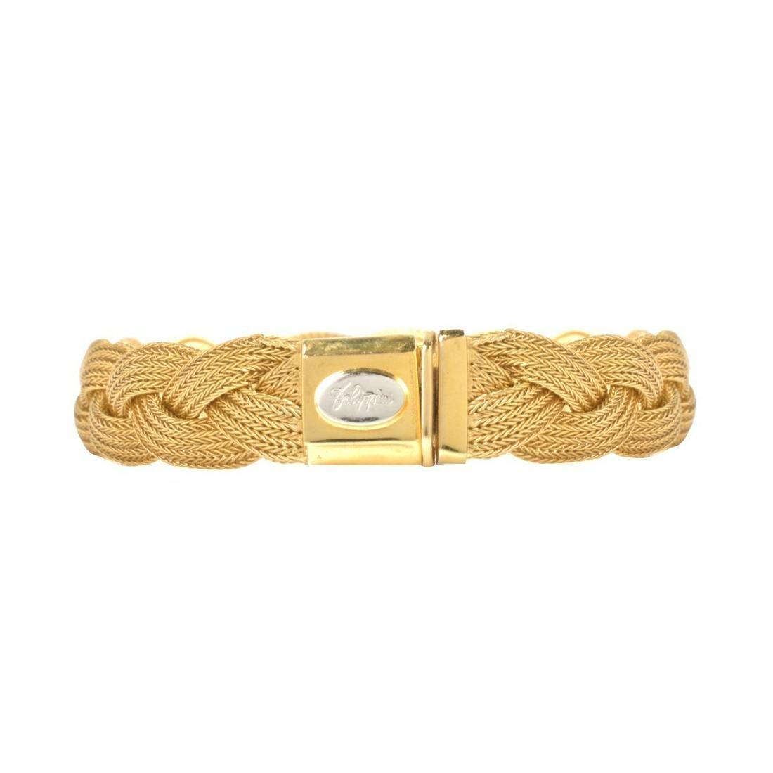 Italian 18K Mesh Bracelet