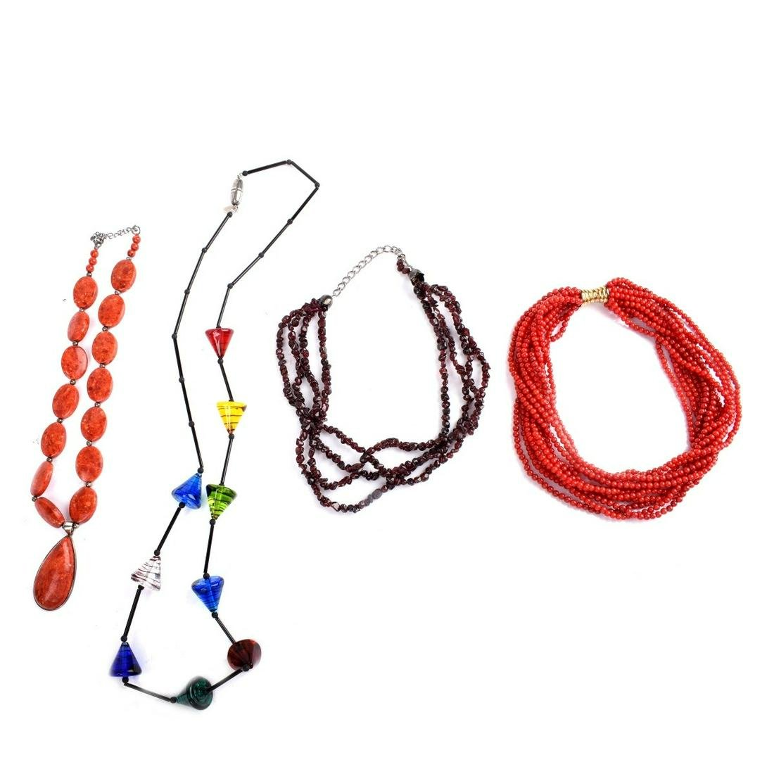 Four Bead Necklaces