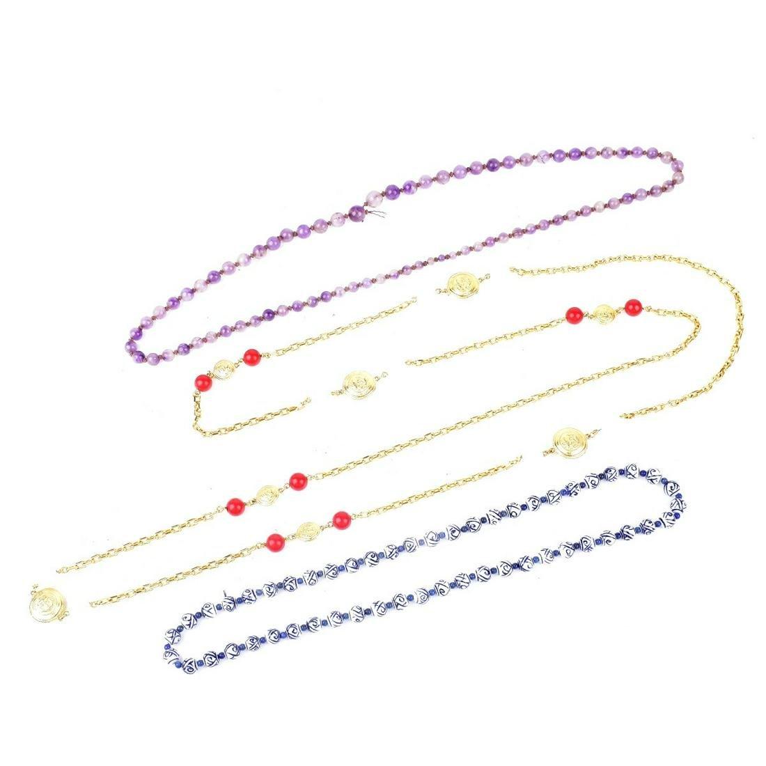 Three Vintage Fashion Necklaces