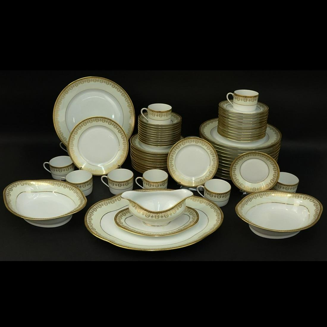 Sixty One (61) Pc. Limoges Porcelain Service