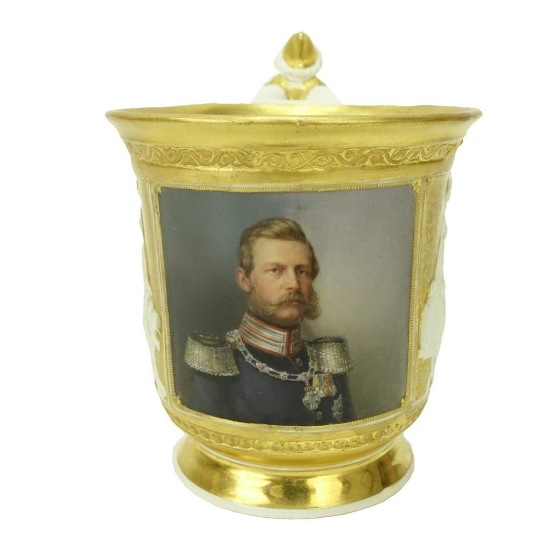 19th Century KPM Porcelain Portrait Cup