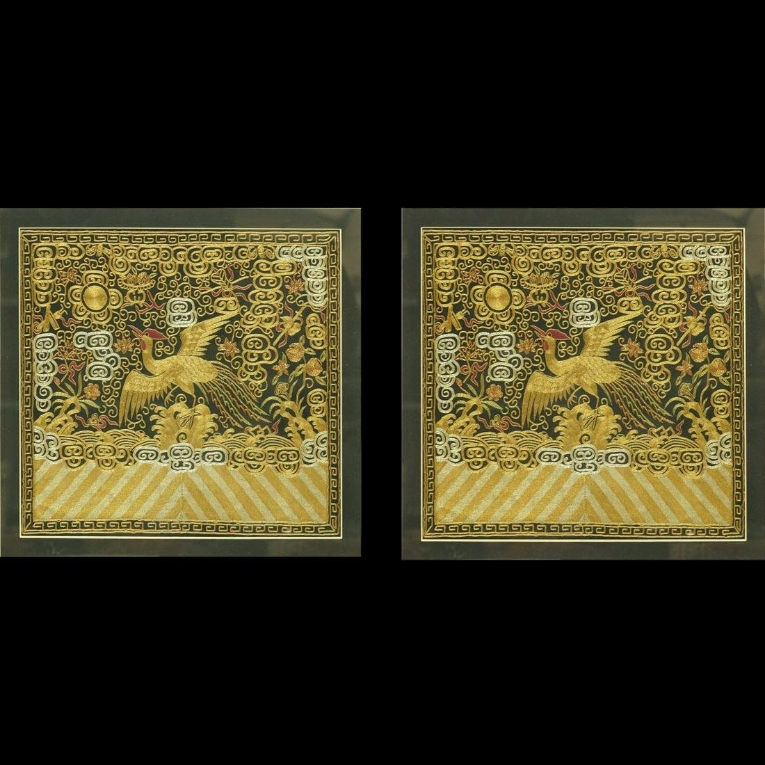 Chinese Silk Embroidered Panels