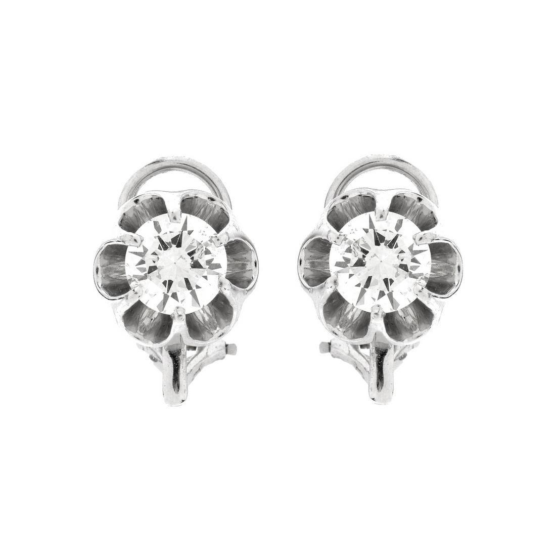 Vintage 2.10ct Diamond Stud Earrings