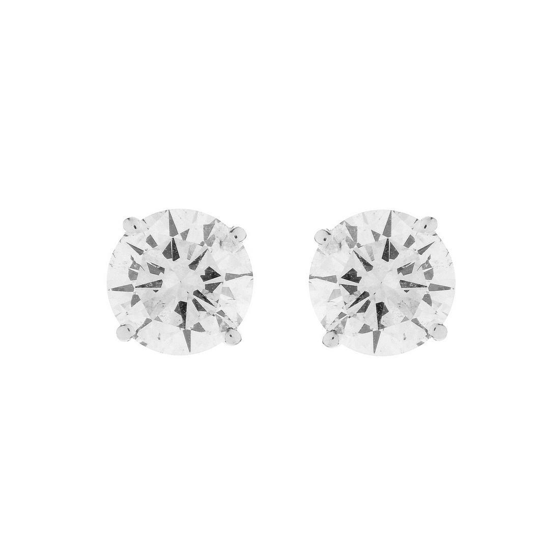 4.0ct TW Diamond and 14K Stud Earrings
