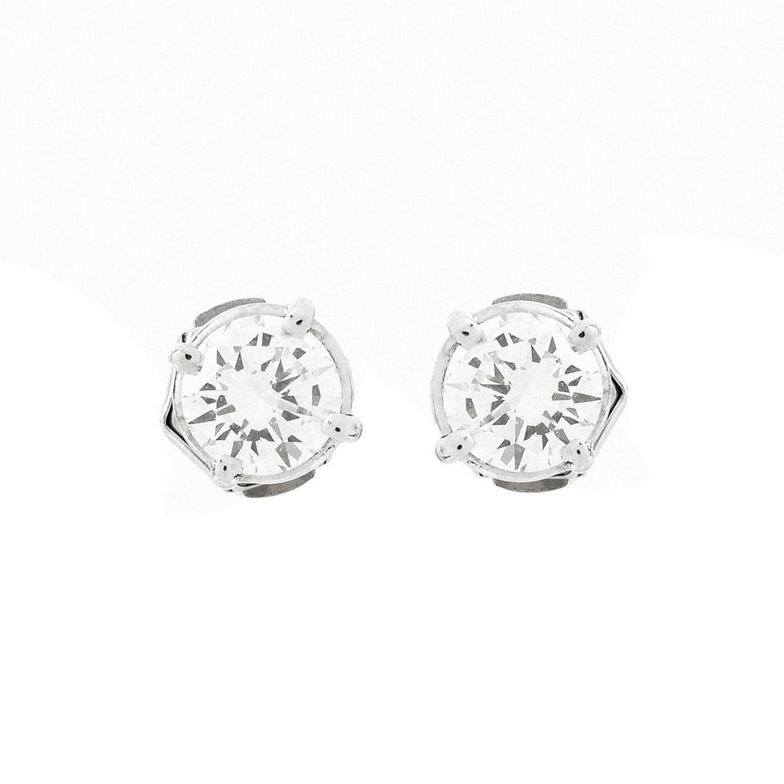 1.60ct TW Diamond and 14K Stud Earrings