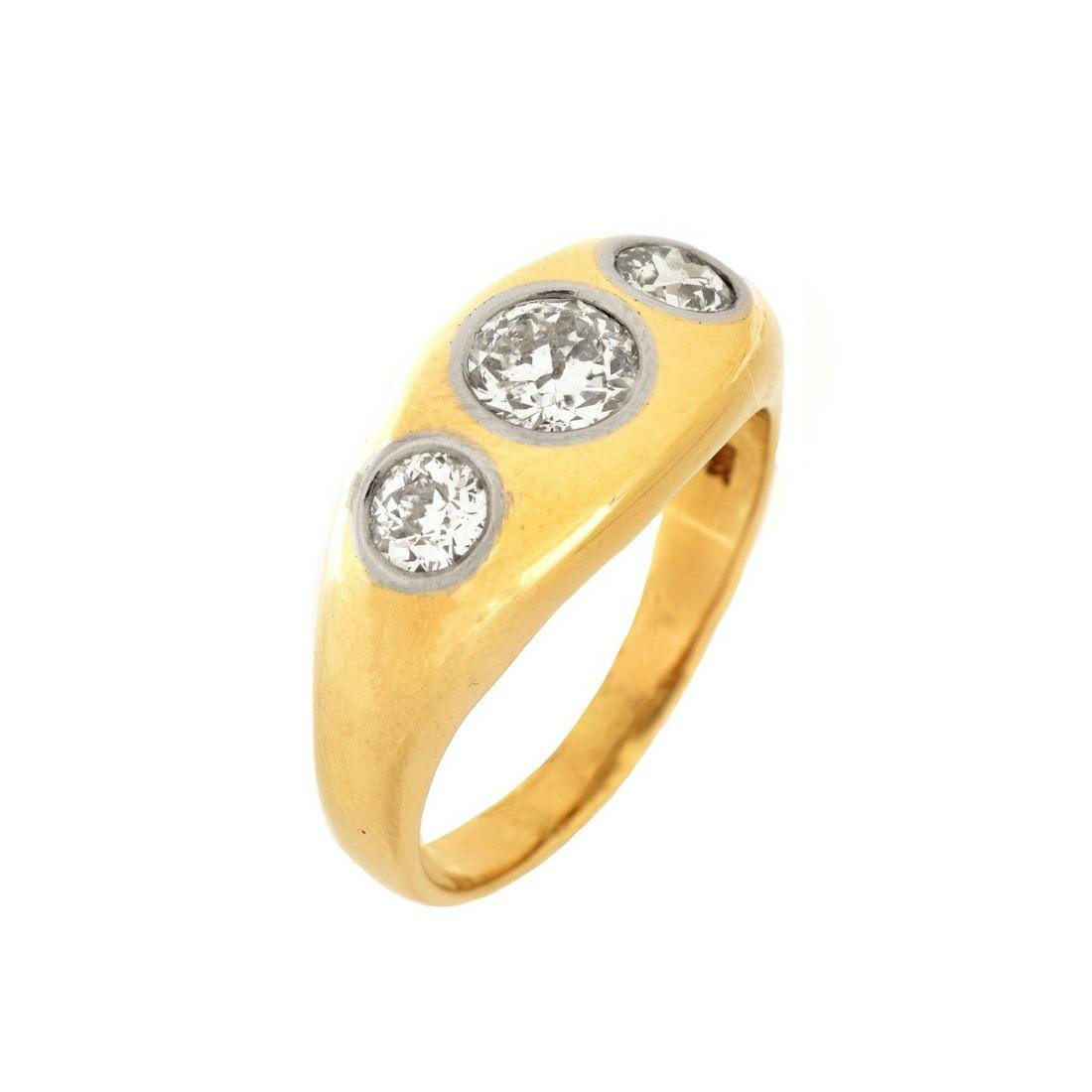 Man's Diamond and 14K Ring