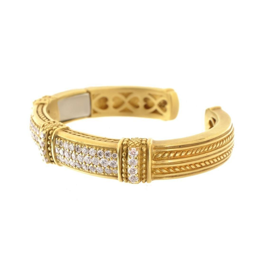 Judith Ripka Diamond and 18K Bracelet