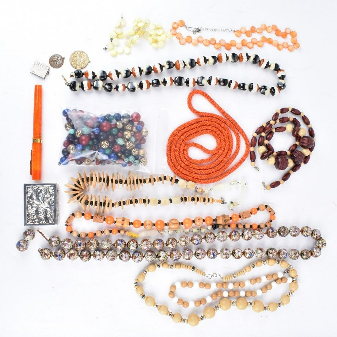 Collection of Vintage Costume Jewelry & Trinkets