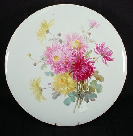 14: Large Hand Painted Meissen Porcelain Round Wall Han