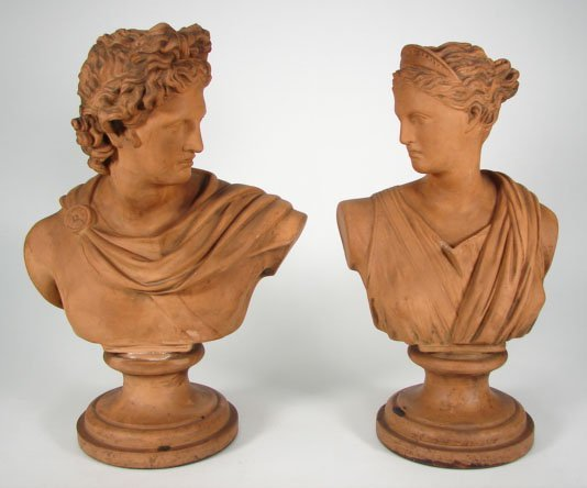 521: Two (2) Early 20th Century Decorative Terracotta B