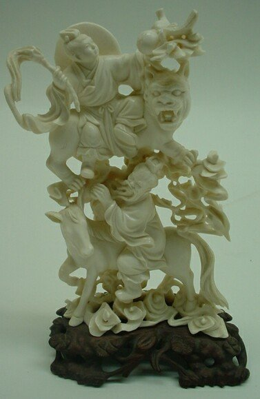 547A: Late 19th Century Hand Carved Chinese Ivory Figur