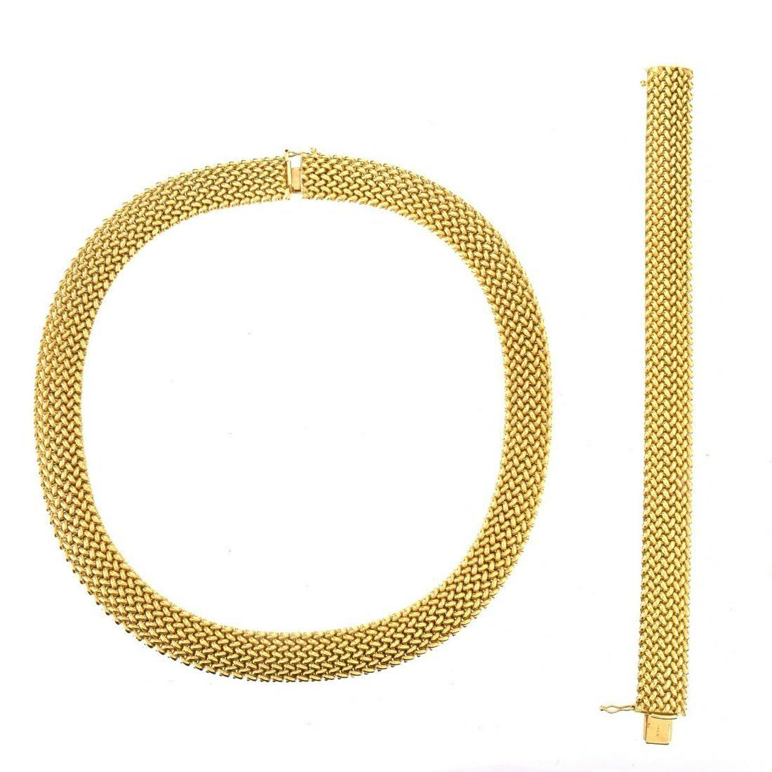 Vintage 14K Necklace and Bracelet