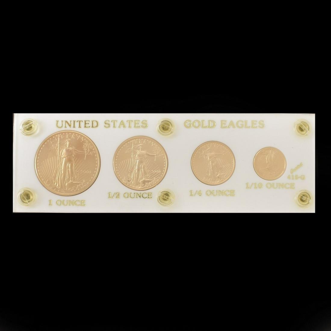2000 US AMERICAN EAGLE PROOF GOLD SET