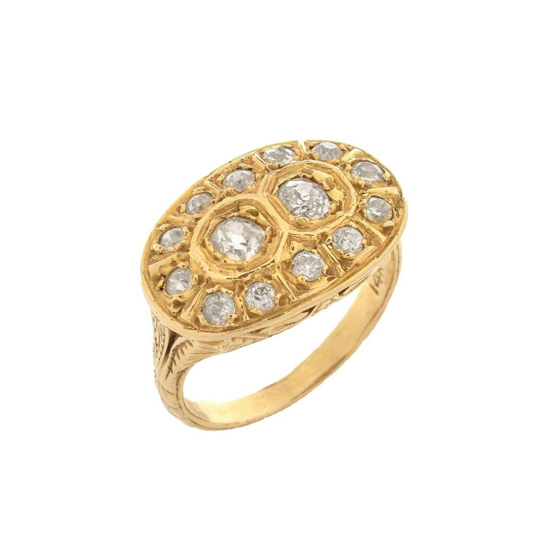Antique Diamond and 14K Ring