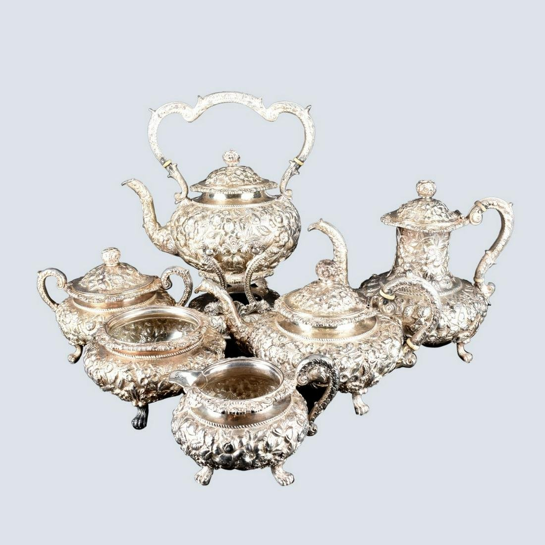 Kirk and Son Repousse Sterling Tea Set