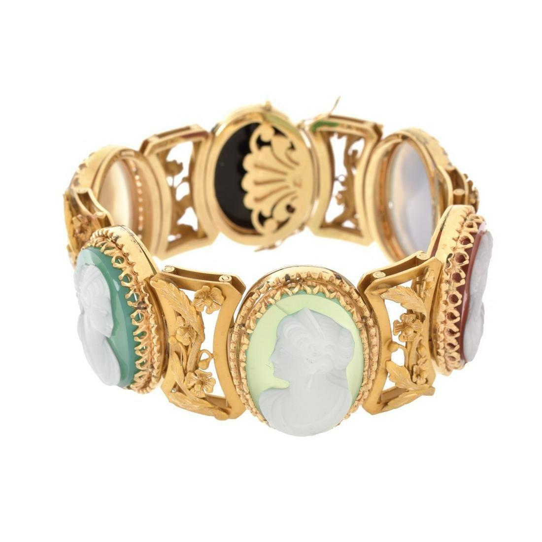 Antique 14K Cameo Bracelet