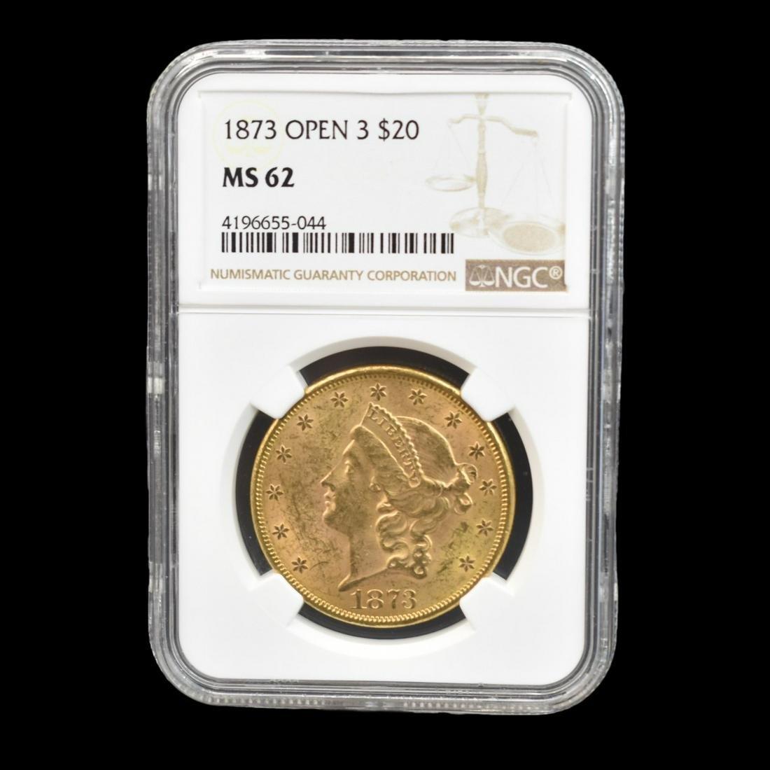 1873 US Liberty Head Twenty Dollar