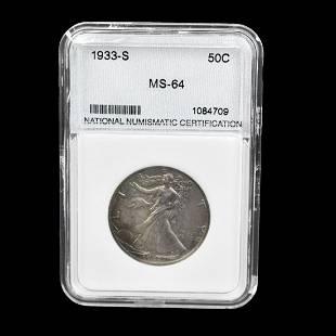 1933S US Walking Liberty Half Dollar