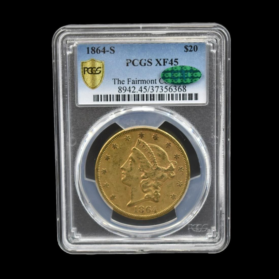 1864-S US Liberty Head Twenty Dollar