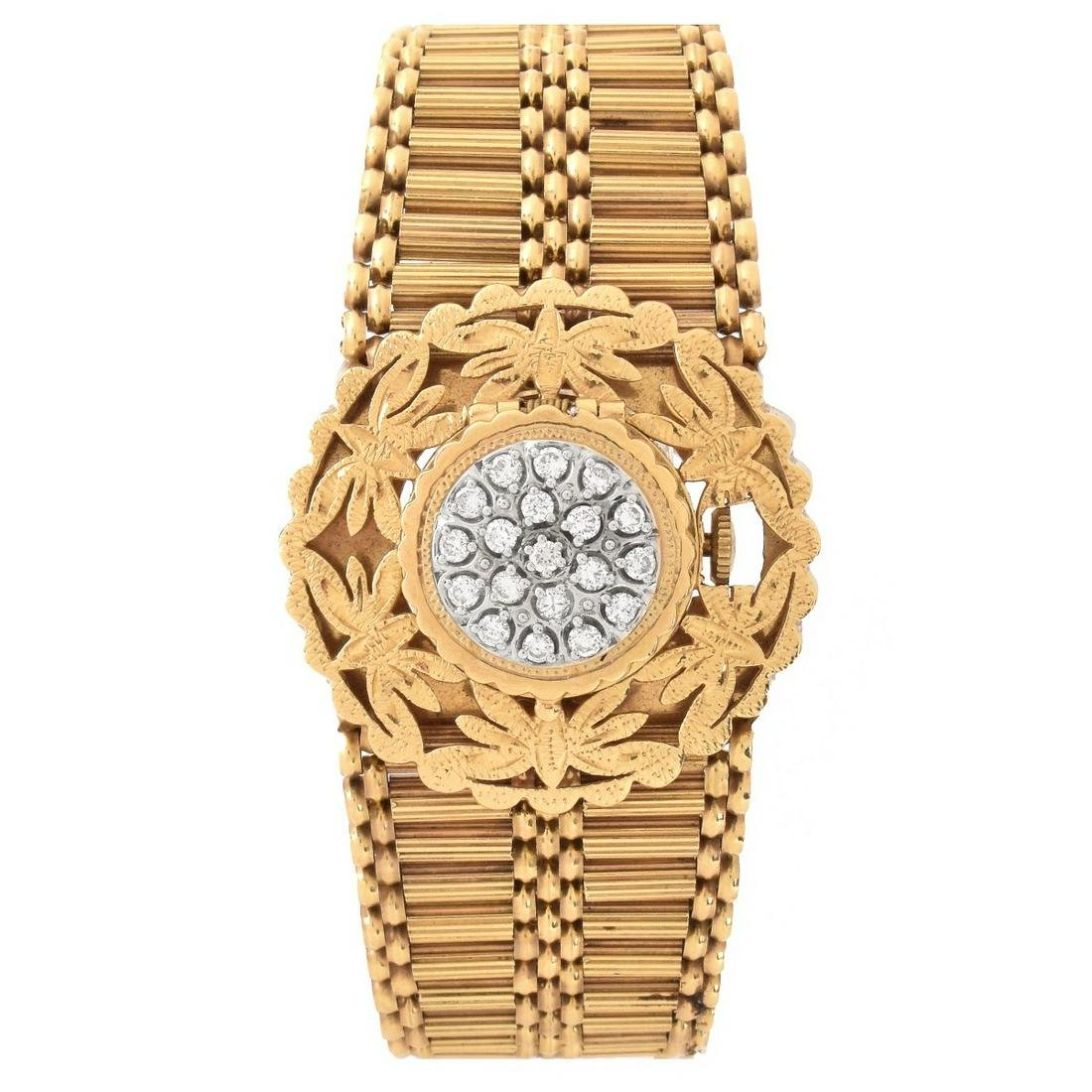 Diamond and 14K Bracelet Watch