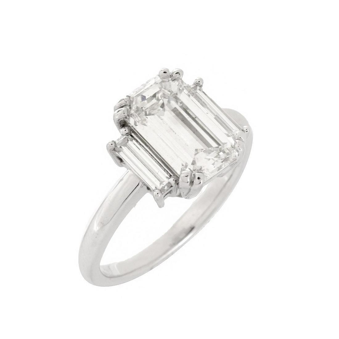 GIA Diamond and 18K Ring