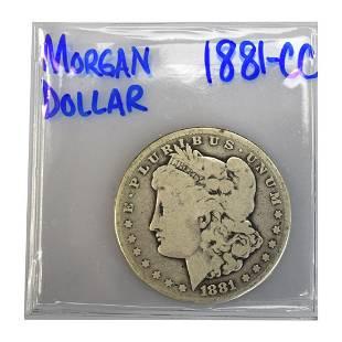 1881CC Silver Morgan Dollar