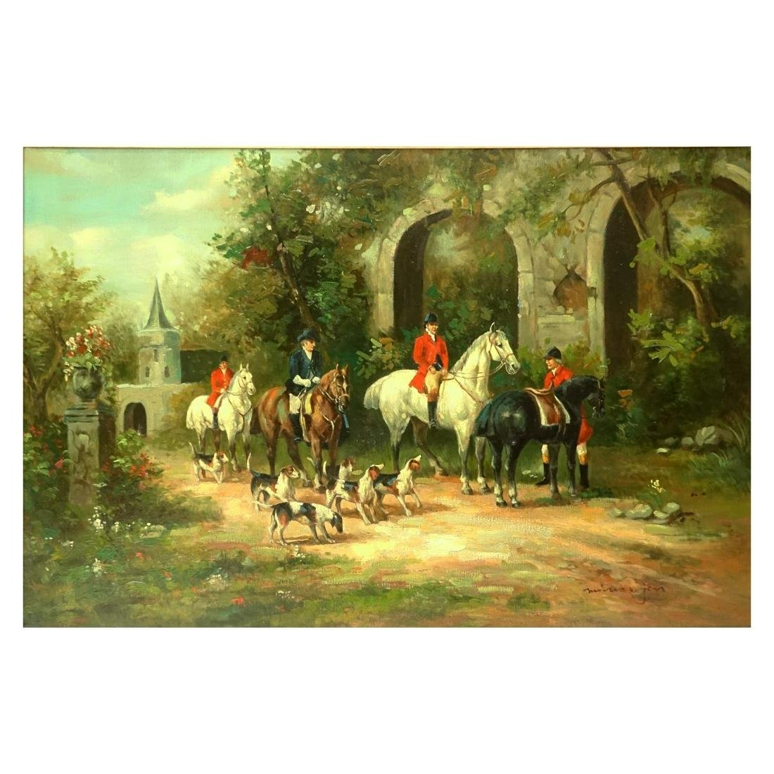Oil on Canvas Going to the Hunt