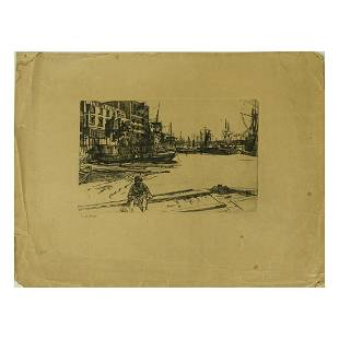 James AM Whistler 18341903 Engraving