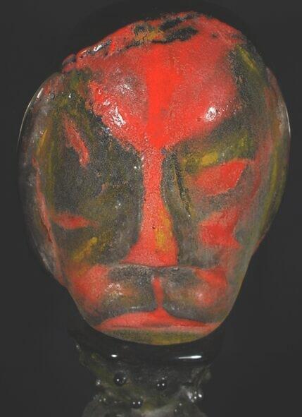 17: James Tribeau Contemporary Pate de Verre Sculpture