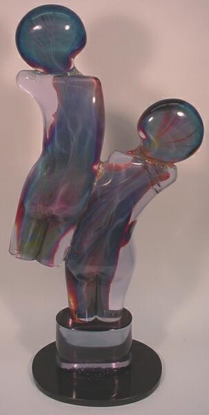 20: (Lorendano Rosin) Rosin Studi Glass Sculpture Twins